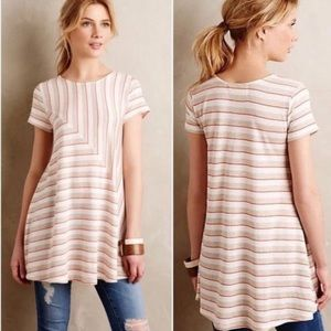 Anthropologie Puella Angled Stripe Swing Top
